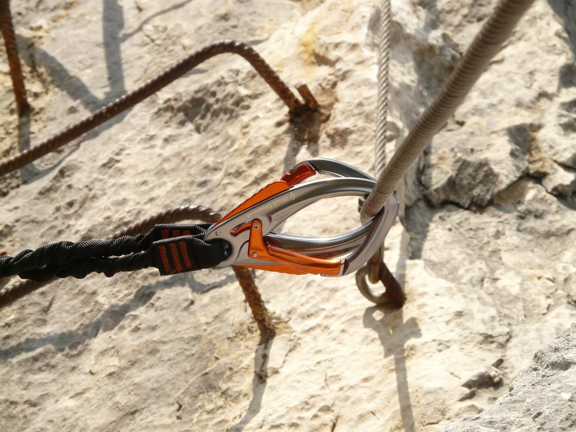Klettersteigset Karabiner