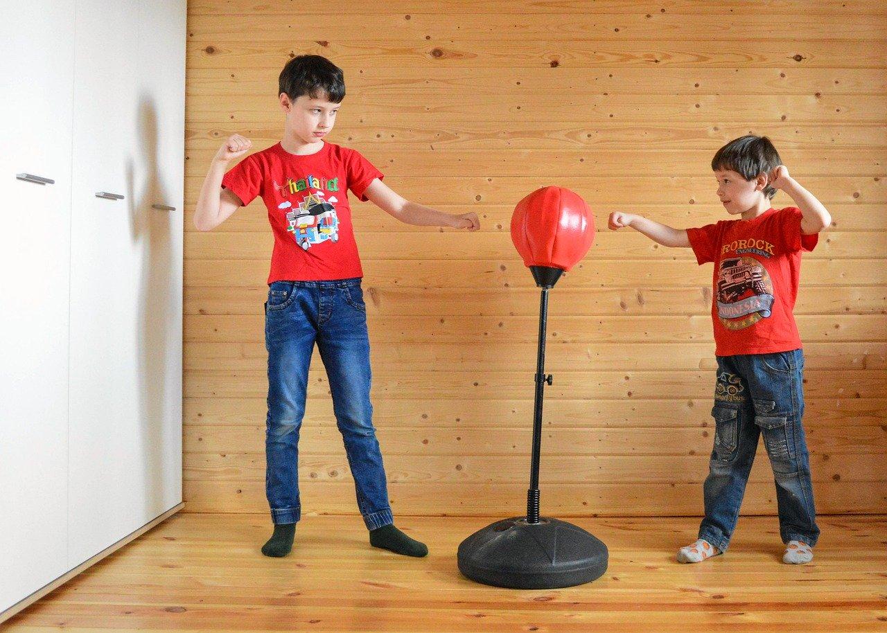 Es gibt auch spezielle Standboxsäcke für Kinder.
