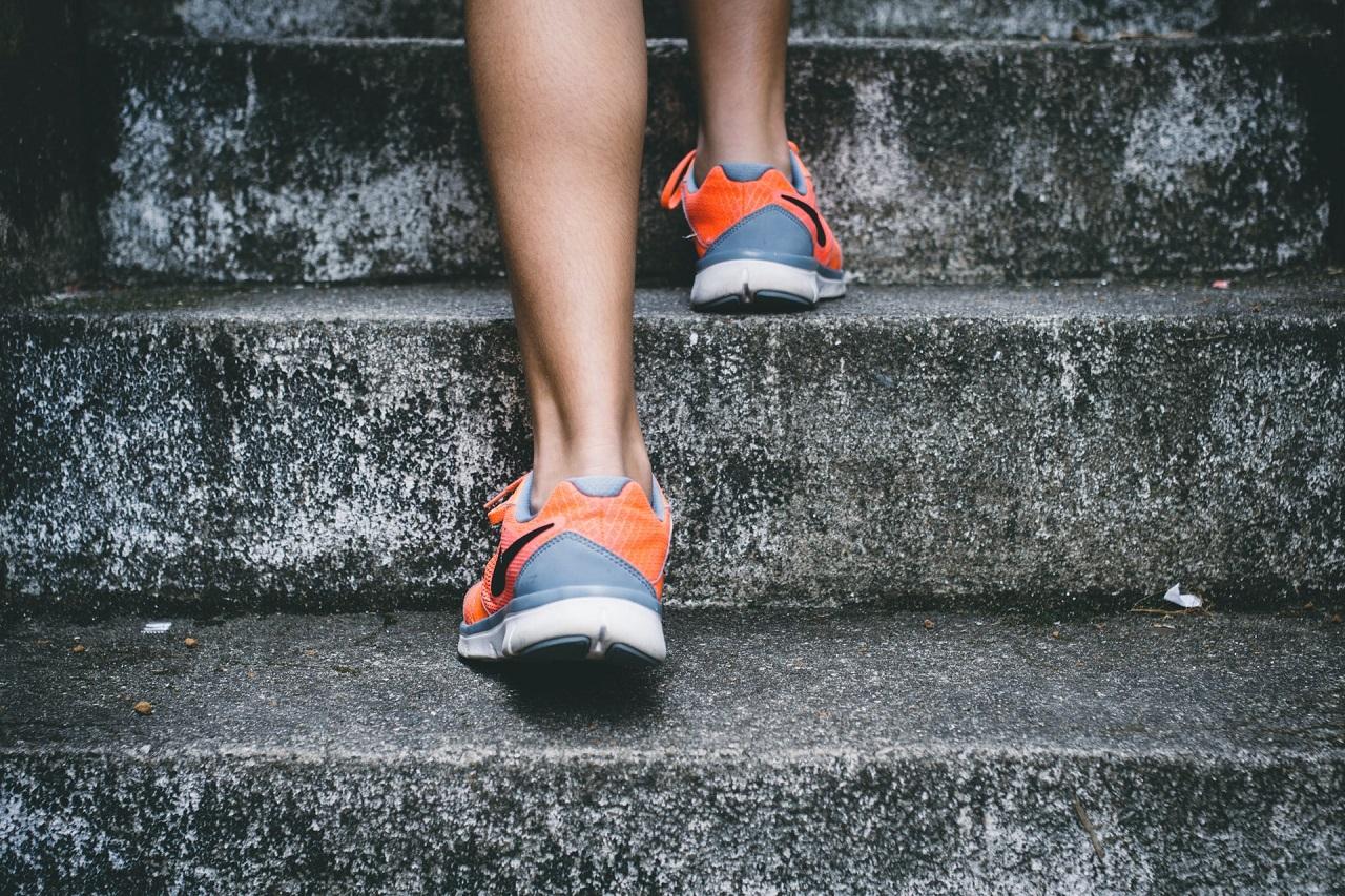 Auf einem Stepper trainiert man die Muskelpartien, die wir beim Treppensteigen beanspruchen.