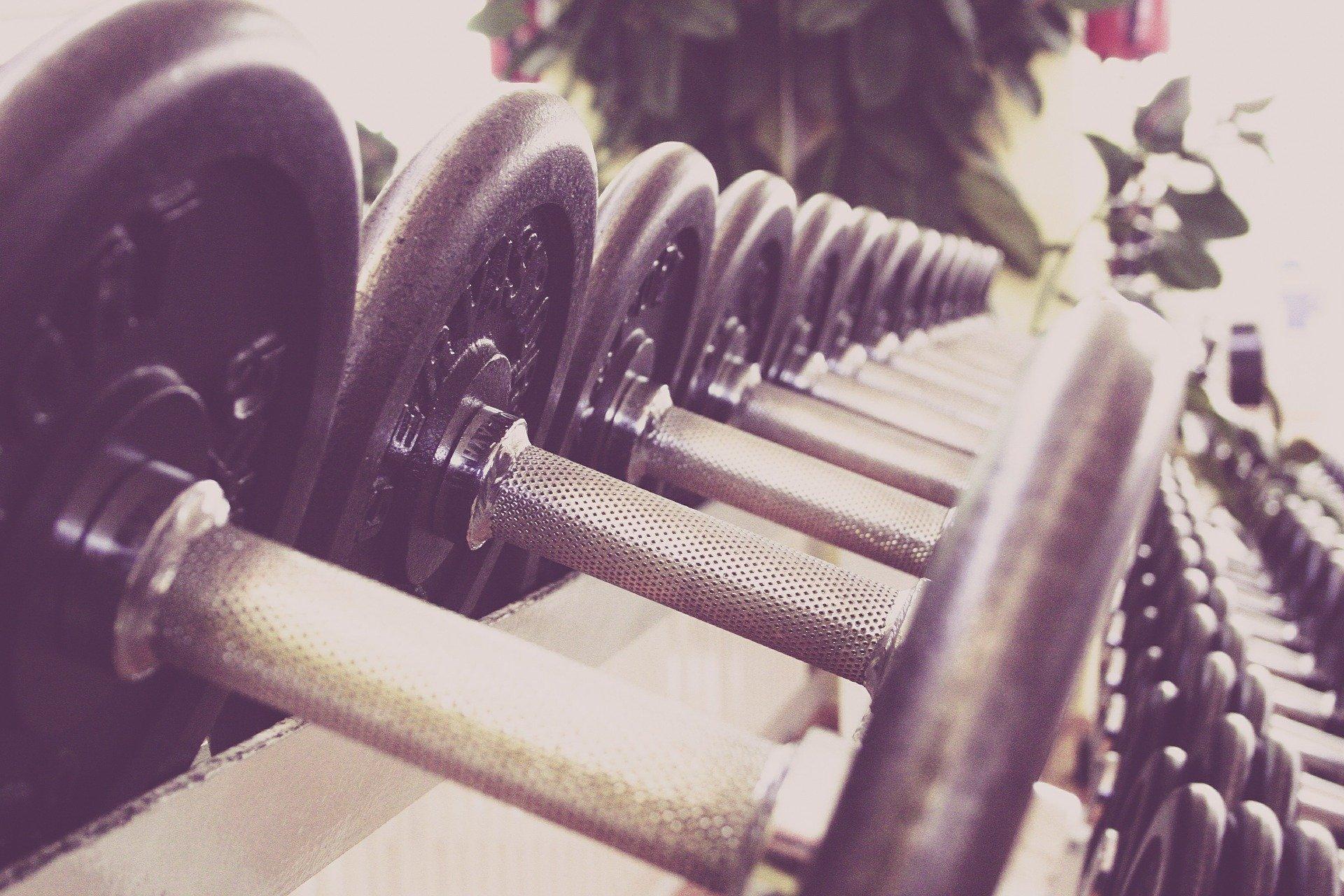 Kurzhanteln Kraftsport und Fitnesstraining