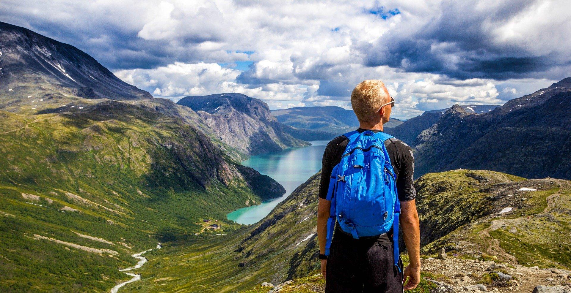 Laufrucksack auch fuer das Wandern geeignet